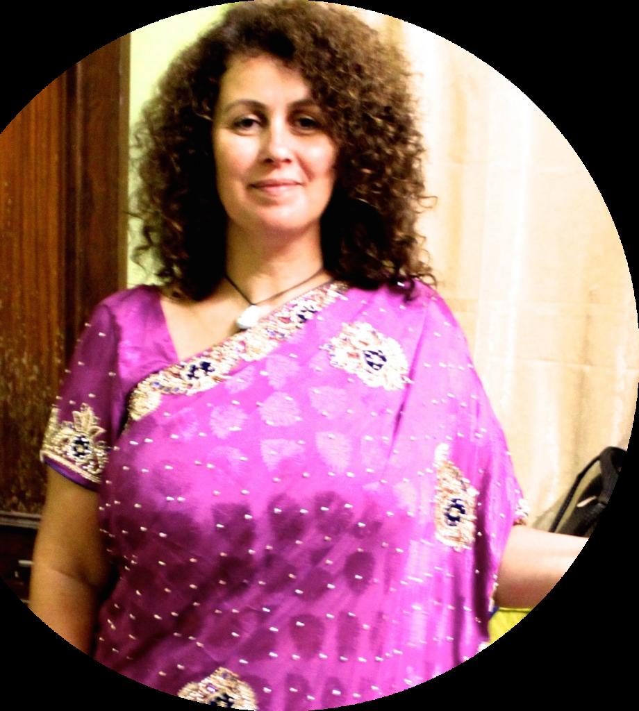 Sylvie Metayer pour les massages ayurvédiques